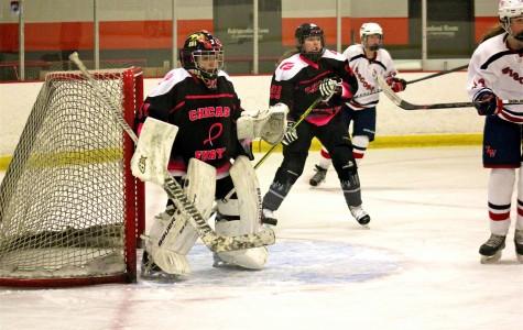 Figure skater turned hockey goalie doesn't look back