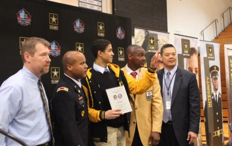 U.S. Army and Pro Football Hall of Fame honor student-athlete for excellence