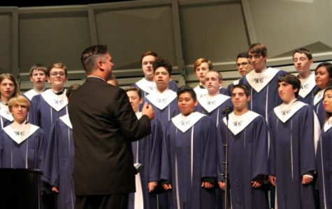 Singers perform together in their first concert