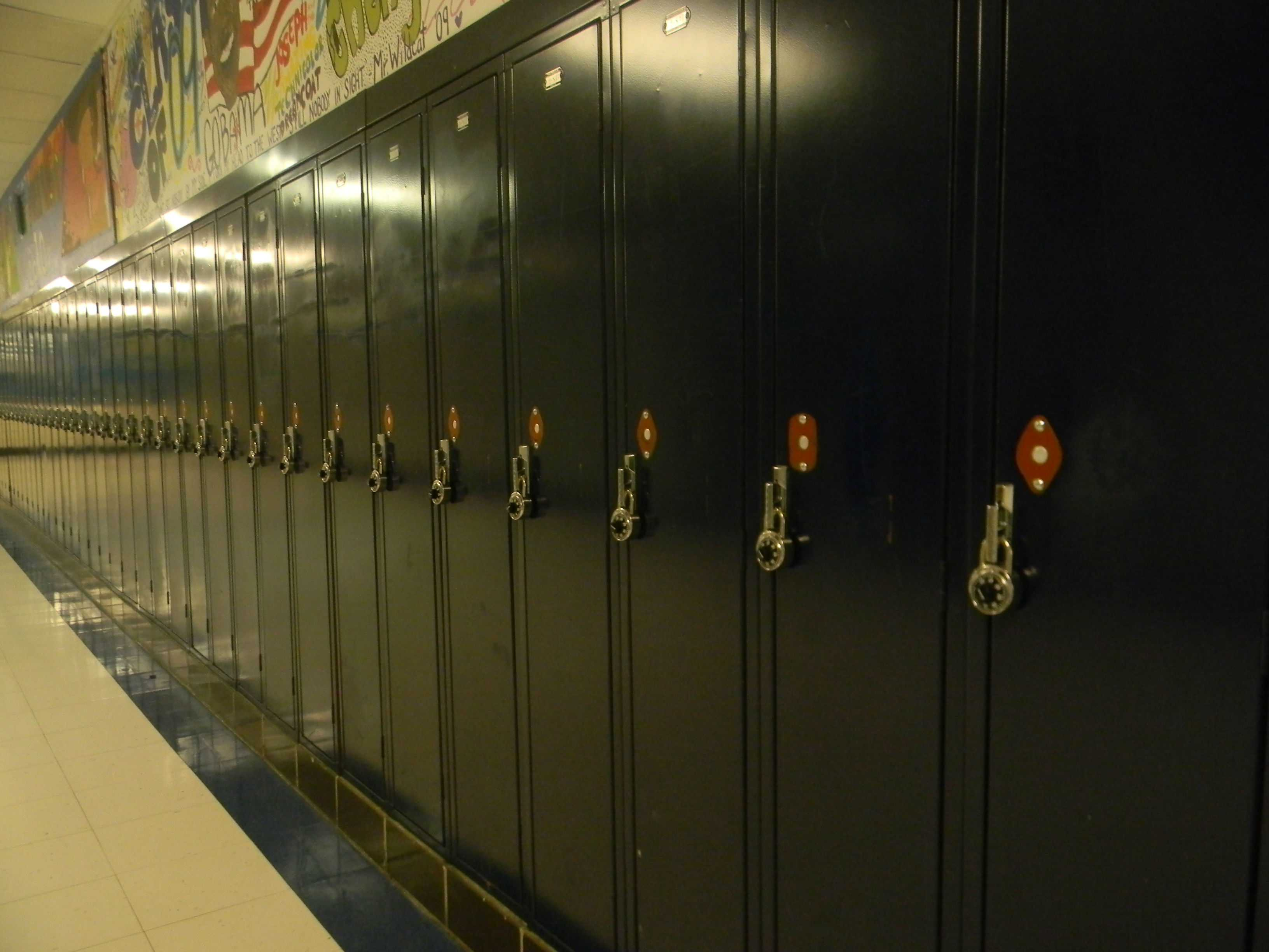 Students returned this school year to personal locks.