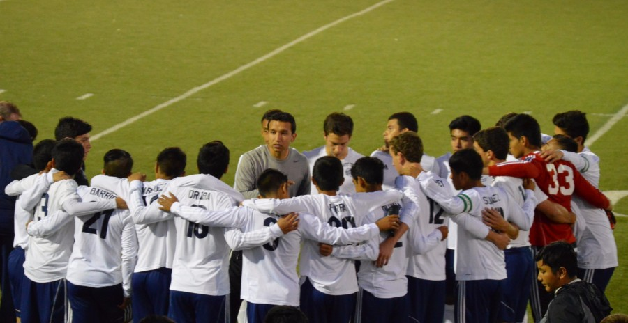 The+boys+soccer+senior+night+was+on+Oct.+13.+The+game+ended+in+a+tie+against+West+Aurora+High+School.+
