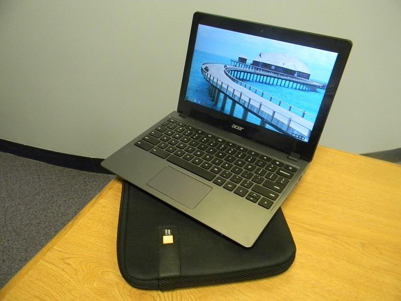 Each student is in possession of a district owned Chromebook, a device that teachers have regularly worked into the curriculum.