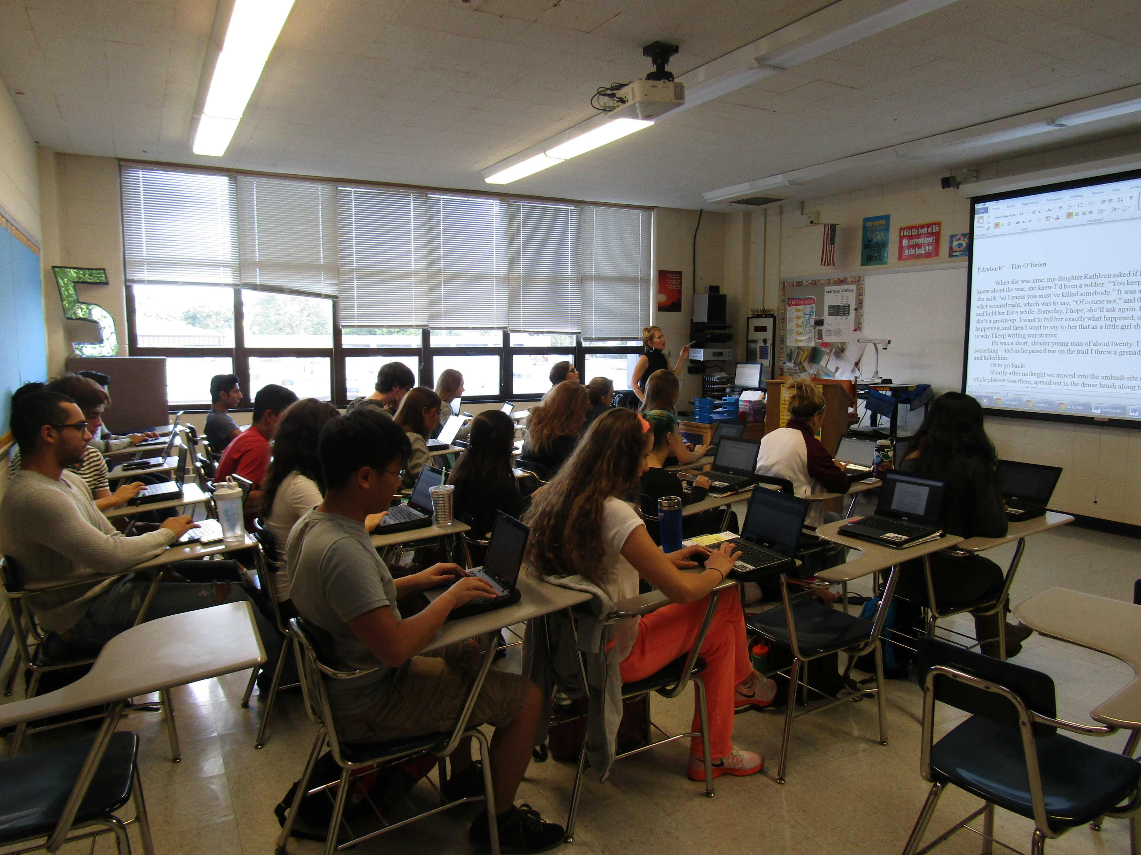 Teachers and students throughout the school are using Chromebooks to enhance the learning experience.
