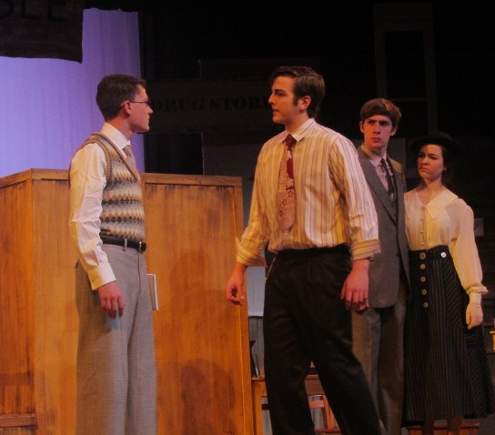 The latest WeGo Drama productions deals with the controversial trial of  Darwinism in schools in 1920s Tennessee. Seniors Stephen Lewis (left) and Robert Bradley make up part of the cast as E. K. Hornbeck and Henry Drummond respectively.