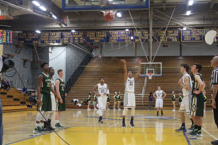 By attempting 24 more free throws and making 17 more than Waubonsie Valley High School, the boys basketball team was able to win 44-33 on Monday night. They advance to the next level of regional play on Wednesday against York High School. Junior Tai Bibbs shot 60 percent from the free throw line.