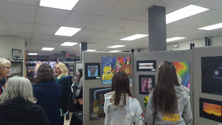 Gallery 200 hosted a student art show featuring multiple works from art classes.