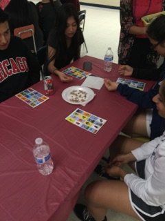 Part of the night included playing tradition Latino games.