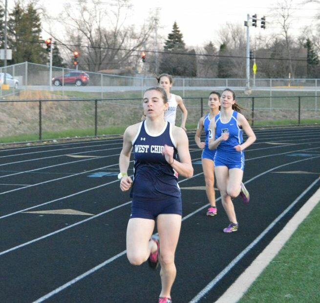 Junior Maddie Brotnow has been running the 800m for all of the season and was able to place All-Conference along with Emma Fox in triple jump.