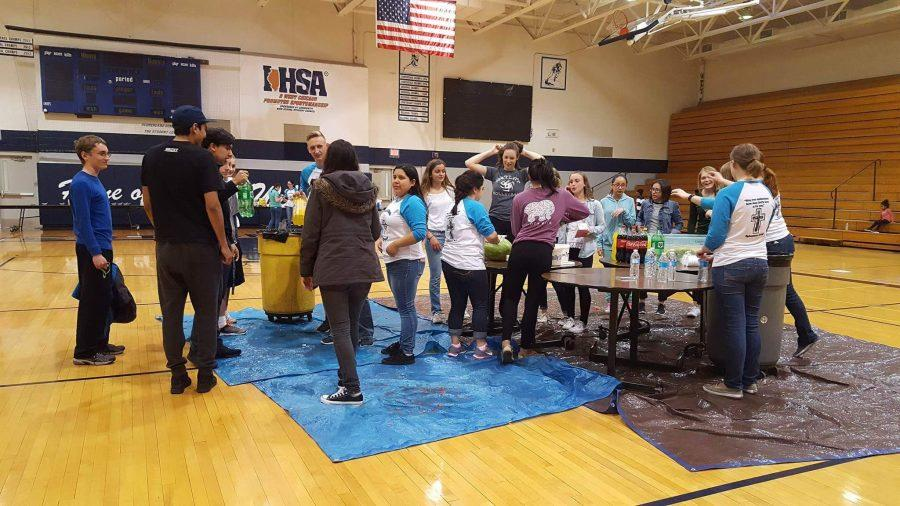Compass turned Bishop gym into a life-sized board game on April 29. for their event of the semester. Participating students were able to play free games with the purpose of being able to meet new people.