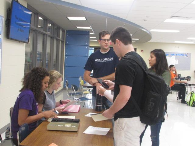 With homecoming week starting Saturday, students sign up for powder puff in commons. Tickets will be on sale for $20.
