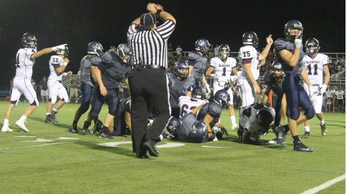 The boys football team battled against Wheaton Academy on Aug. 26