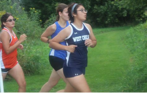 Senior Krystal Montenegro runs at the Sycamore invitational on Aug. 30. The team is preparing for Peoria on Sept. 17