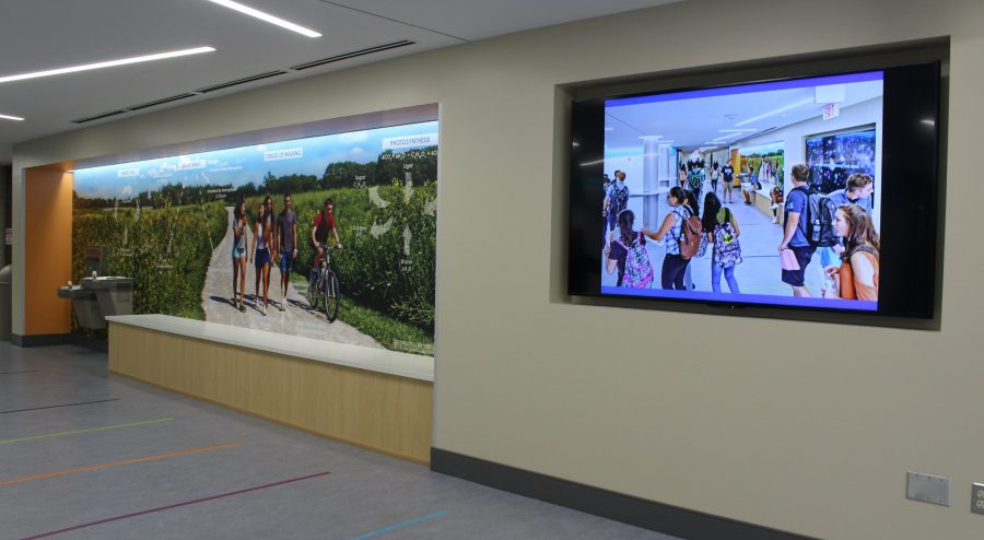 The new science wing is named a 2016 Award of Distinction winner in the annual Invitational Exhibition of Educational Environments sponsored by the Illinois Association of School Board Service Associates. Students will greatly benefit from the new renovations throughout the year.