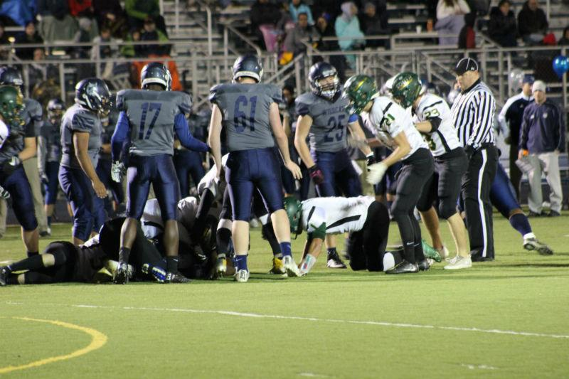 The football team battled against Crystal Lake South and lost 43-14.