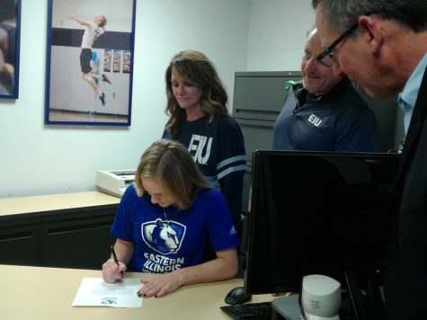 Senior Madion Kassaro signed with Eastern Illinois University to play  volleyball.