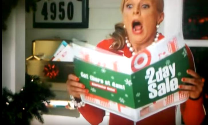 Target advertising their Black Friday sales.