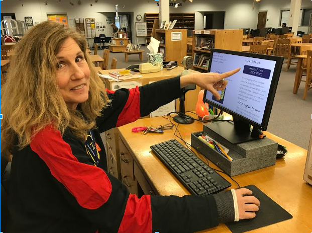 The LRC introduced a new program helping students with their research projects. Just click the research help button. Library media specialist Donna Leahy is ready to help.