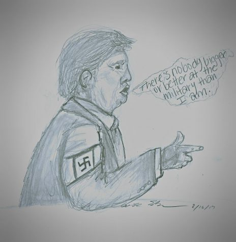Trump utilizes Hitler's fascist tactics