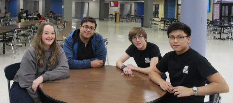 Math team is looking forward to state on May 6 at the University of Illinois. Freshman Anna Navadomskis, junior Zane Hassan, freshman Nathan Schwatel and freshman Kurt Leano competed at regionals.