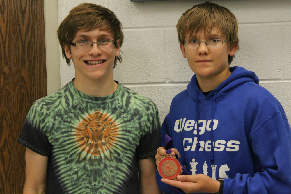 Freshmen Austin Schwatel and Nathan Shawel won 10th place in the freshman-sophomore 2-person teams. The state competition was May 6.
