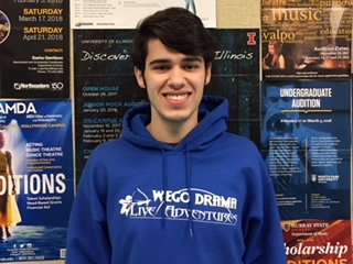 Senior Ricky Gieser is one of the students who perform at the  Illinois High School Theatre Festival.
