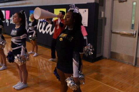 Senior enjoys last year as high school cheerleader