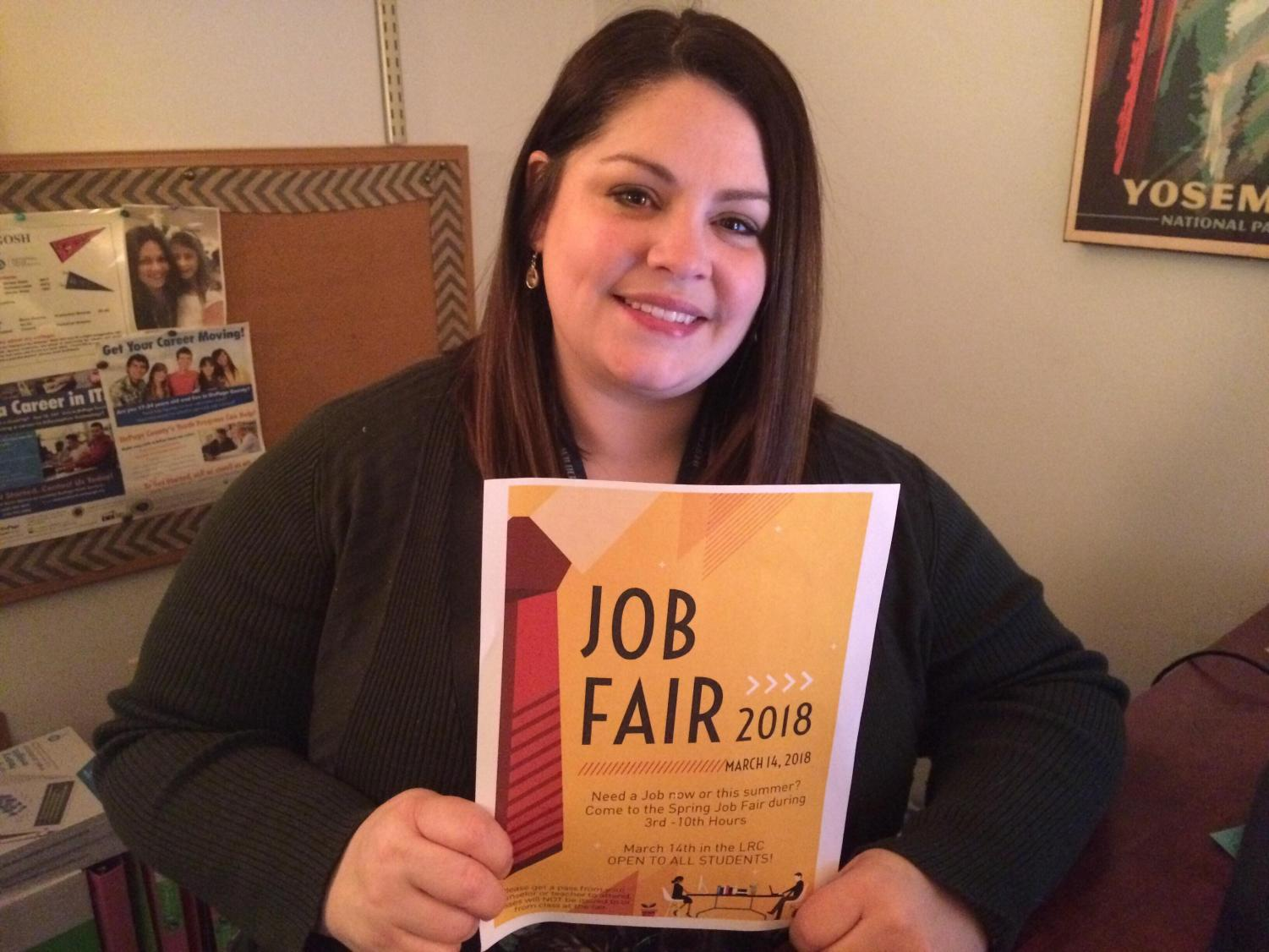 The job fair on Wednesday is hosted and organized by Anne Dragosh. Sixteen companies will attend the job fair.