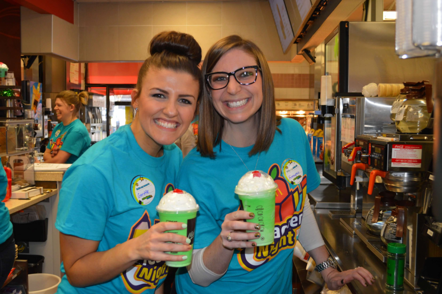 LastyearfoodsteacherAngelaGentileandEnglish Teachers will work at McDonaldu0027s to