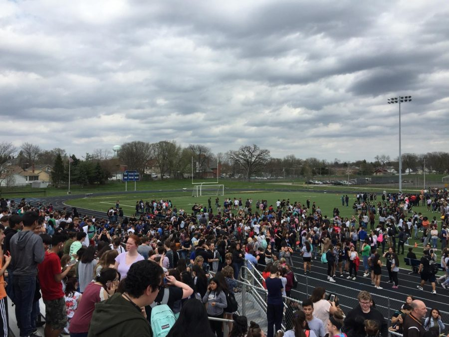 Students and staff evacuated after a threat called into the school