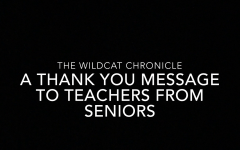 A thank you message to teachers from seniors