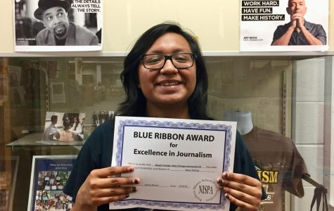 Reporter earns blue ribbon award for covering potential strike