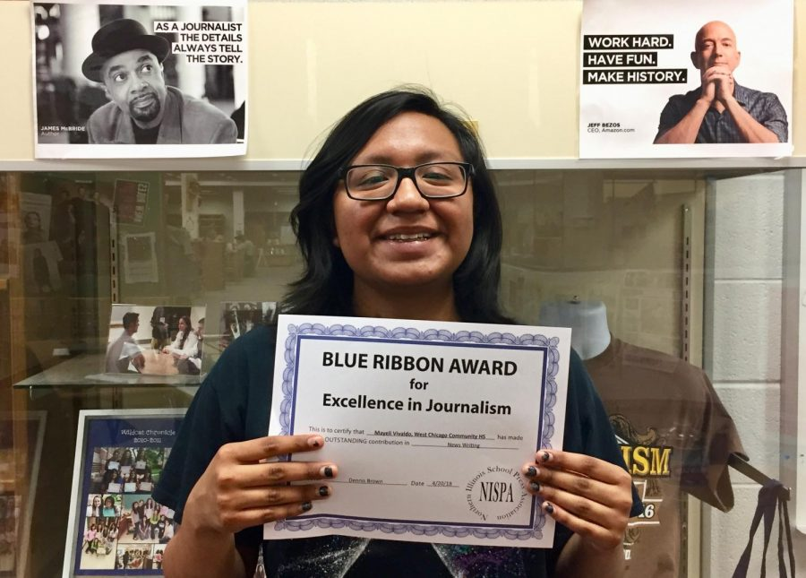 Reporter earns blue ribbon award for covering