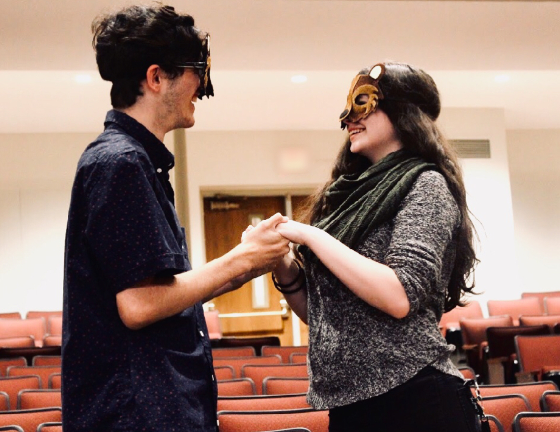 "Sophomore Christina Champagne and junior Ryan Castiglia will perform ""The Lion, The Witch, and The Wardrobe"" in the auditorium seats on Saturday."