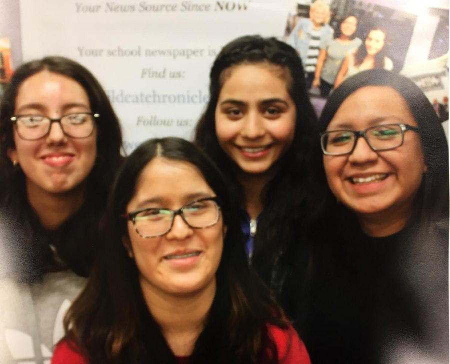 The Wildcat Chronicle archived a silver rating from the Columbia Scholastic Press Association for the online paper's work. The 2017-2018 staff included sophomores Leslie Najera-Rivas and Isabella Casimiro, senior Ariana Alcantar, and Mayeli Vivaldo '18.
