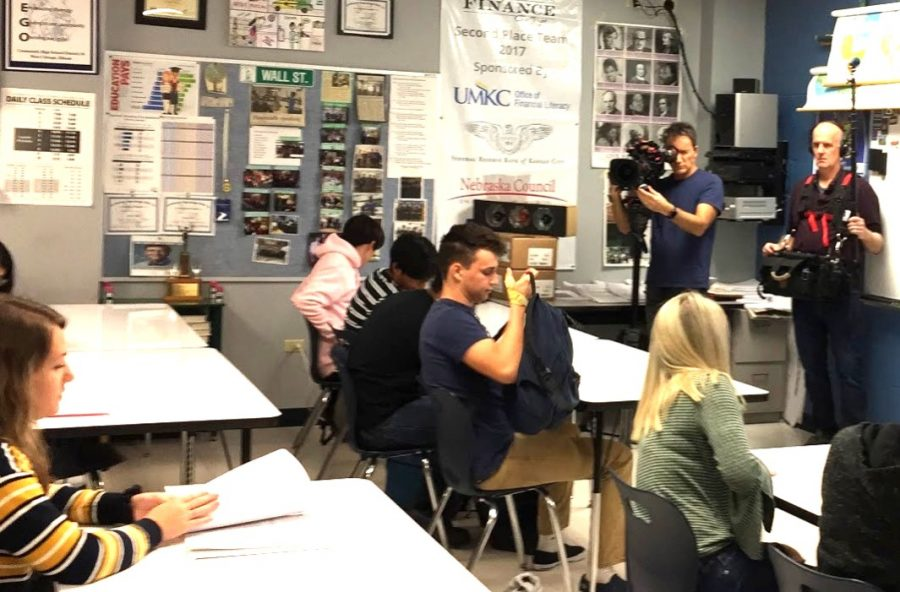"""""""CBS Sunday Morning"""" crew from New York recorded government class to show how civics are taught in a national story."""