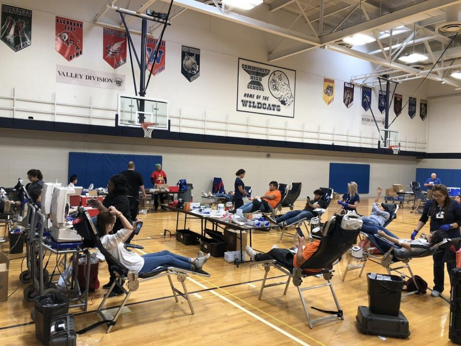 Over 100 donations were made at the fall blood drive. Students can sign up for the spring blood drive on Friday.