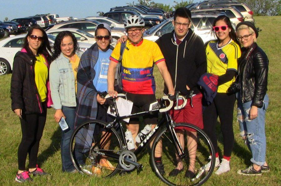 Science teacher Eduardo Montoya rides to raise money for children with cancer