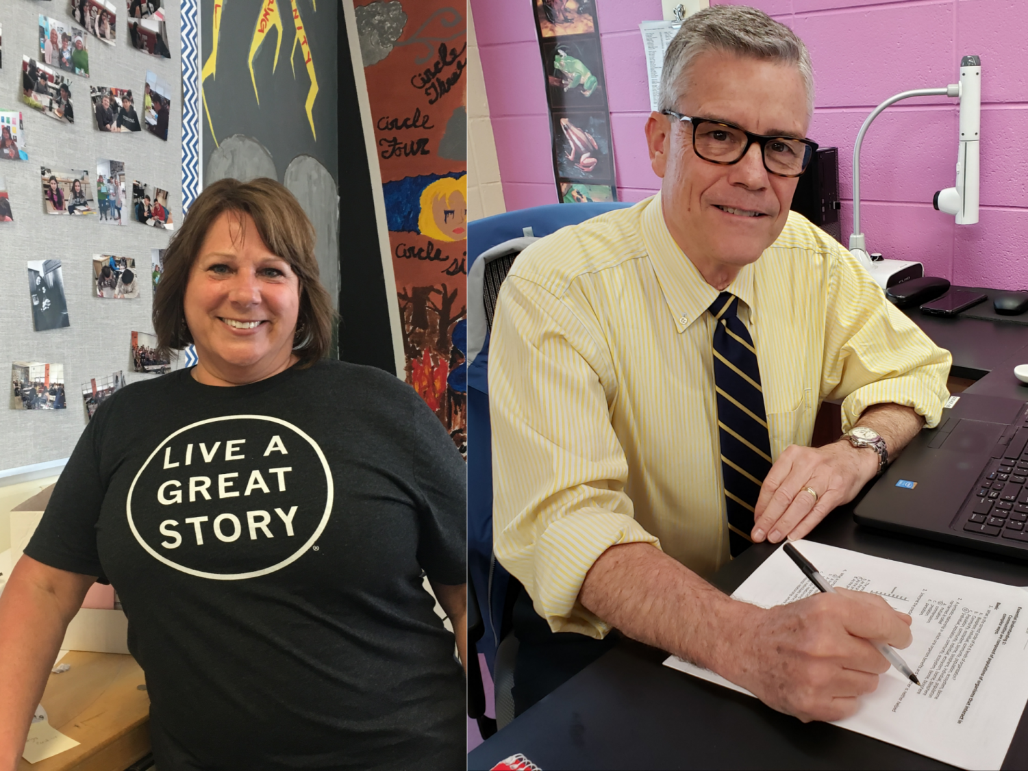 Science teacher Hank Murphy will retire after teaching for 15 years. Special education teacher Catherine Thielberg hopes to work for the Obama Foundation after she retires from her career here.