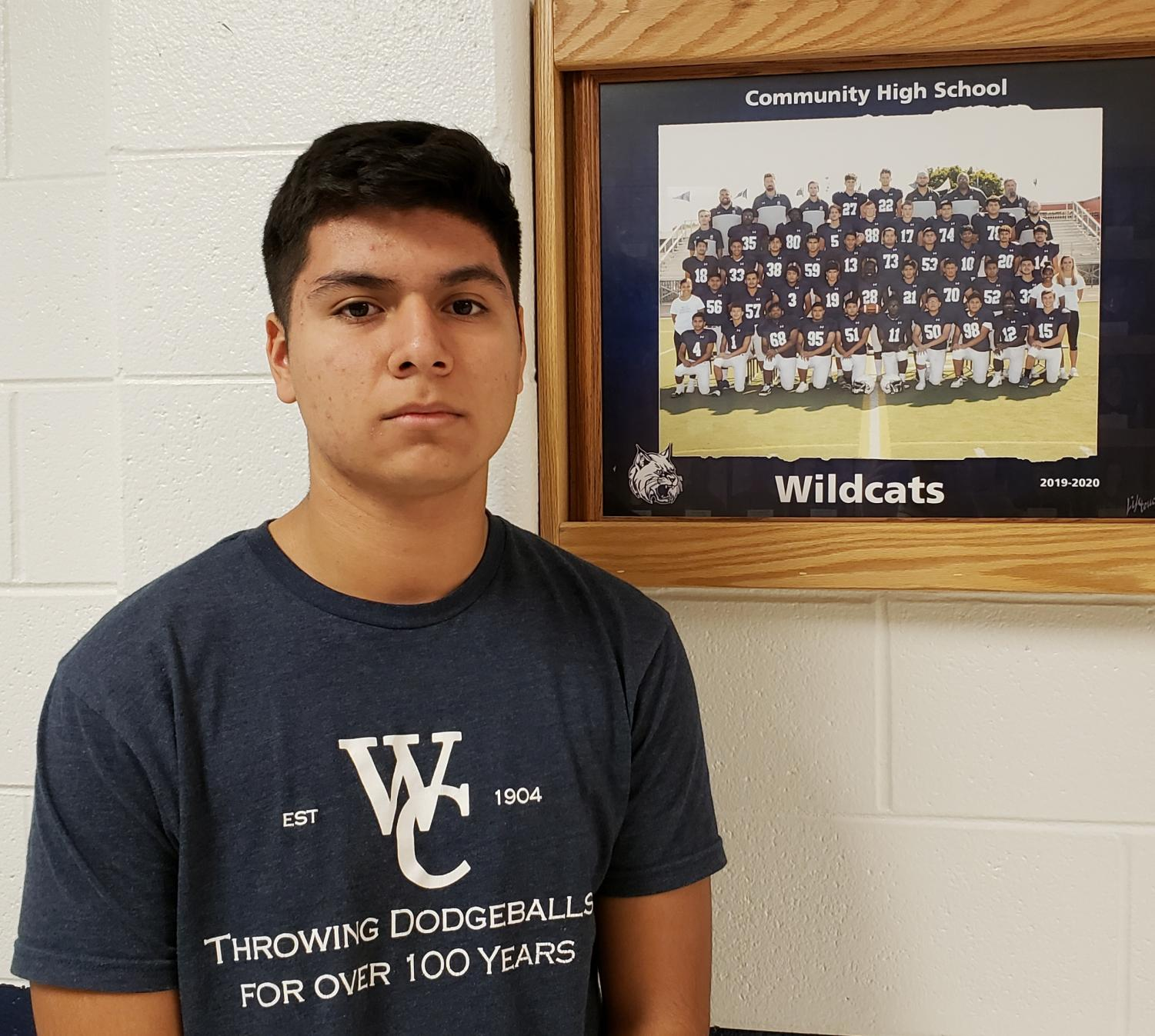Senior Eulises Serriteno began playing football in fifth grade and now in his senior year, is the football team captain.