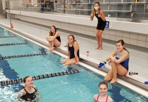 Girls swimming prepares to finish off the fall season on Saturday while being one of the few sports able to play.