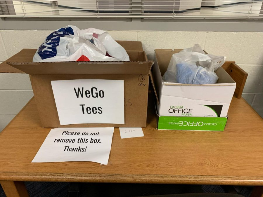 Staff can donate shirts until Friday in room 1130 for the special education transition team to use for their new business.